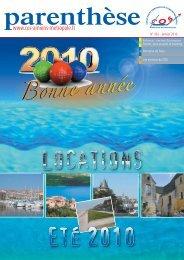 parenthese-456-janvier-2010 - Comité des Oeuvres Sociales d ...