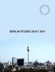 berlin studio 2010 | 2011 - School of Architecture + Design - Virginia ...