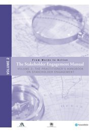 The Stakeholder Engagement Manual Volume 2 - AccountAbility