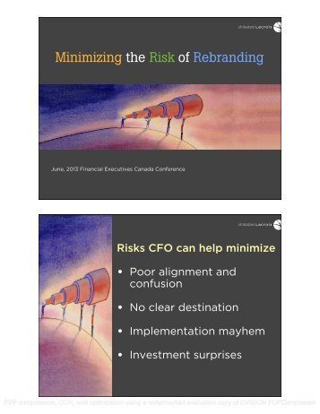 Minimizing the Risk of Rebranding