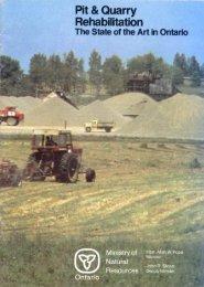 Pit & Quarry Rehabilitation - The Ontario Aggregate Resources ...