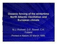 North Atlantic Oscillation Presentation