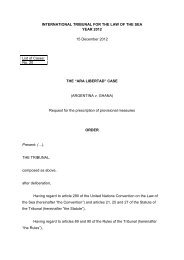 ARGENTINA v. GHANA - International Tribunal for the Law of the Sea