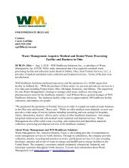 Waste Management Acquires Medical and Dental Waste Processing ...