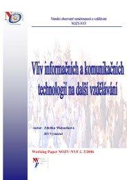 Vliv informačních a komunikačních technologií na další vzdělávání.