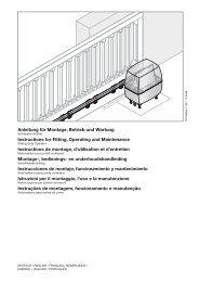 Automatismo para puerta corredera LineaMatic - Hörmann