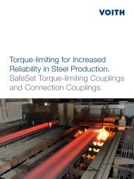 Torque-limiting for Increased Reliability in Steel ... - Voith Turbo