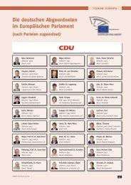 Die deutschen abgeordneten im Europäischen parlament (nach ...