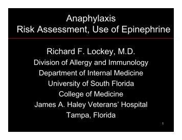 Treatment of Anaphylaxis-Lockey - World Allergy Organization