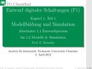 Entwurf digitaler Schaltungen (F1) Modellbildung und ... - TU Clausthal