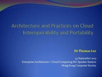 Cloud portability - The Hong Kong Computer Society