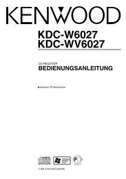 KDC-W6027 KDC-WV6027 - Kenwood