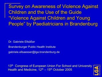 Violence Against Children and Young People