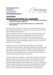Pressemitteilung. - Wohndesign Villa Salzburg