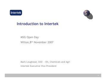 ITS Caleb Brett India: - Intertek Caleb Brett