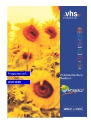 Kurs Nr. 12/1 09/10 - Gemeinde Morbach