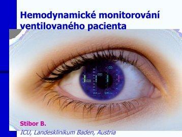 Hemodynamické monitorování ventilovaného pacienta