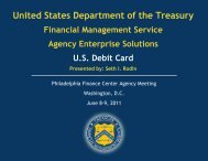 US Debit Card Agency Forum - Financial Management Service ...