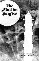 1972, I - The Muslim Sunrise