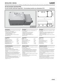 350 mA Controller mit Netzteil IP65 350 mA Controller with ... - Wibre