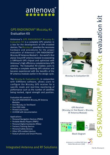 GPS RADIONO VA M10264-K1 evaluation kit - Anglia M2M