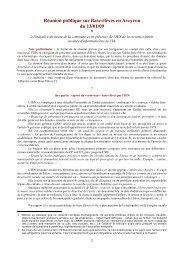 Réunion publique sur Base-élèves en Aveyron du 13/01/09 *