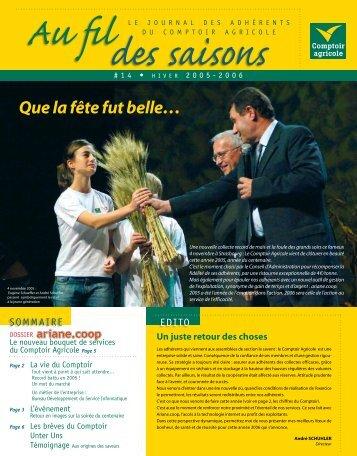 Fil Des Saisons #14 Hiver 2005/2006 - Comptoir Agricole