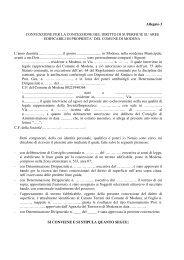 Schema della convenzioni per la concessione del diritto di ...