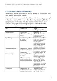 Casestudiet i metodeudvikling