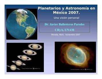 en la Reunión Nacional de Planetarios 2007
