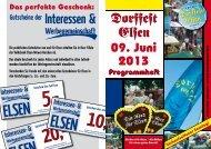 Programm Dorffest - Interessen und Werbegemeinschaft Elsen