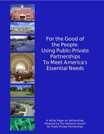 white paper--print version - The National Council for Public-Private ...