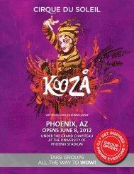 PHOENIX, AZ - Cirque du Soleil