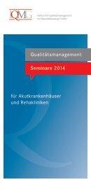 IQMG-Seminarprogramm 2014 - IQMG Institut für ...