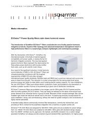 Media information ECOsine™ Power Quality filters calm ... - Schaffner