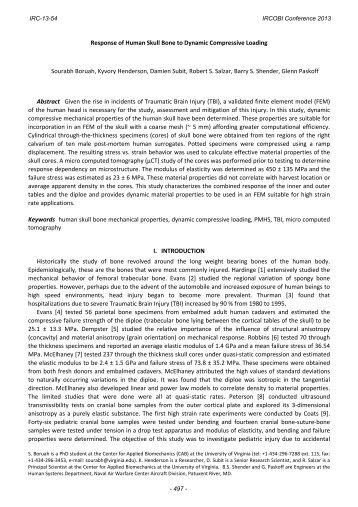 Response of Human Skull Bone to Dynamic Compressive ... - IRCOBI