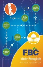 Exhibitor Planning Guide - Federal Business Council, Inc.