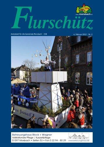 Nur am 13. + 14. Februar 2012 10% - Gemeinde Morsbach