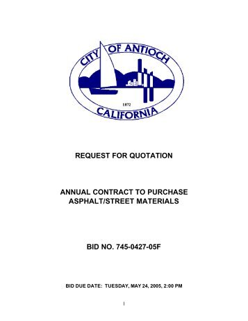 Quotations For Annual Rate Contract For Purchase Of Consumables