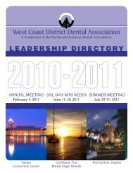 A Component Of The - West Coast Dental Association
