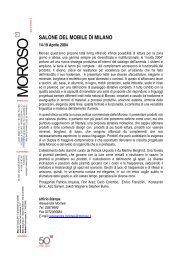 SALONE DEL MOBILE DI MILANO - Moroso