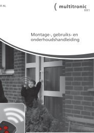 Montage-, gebruiks- en onderhoudshandleiding