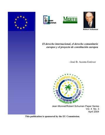 El derecho internacional, el derecho comunitario europeo y el ...