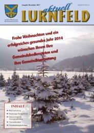 Lurnfeld aktuell Ausgabe Dezember 2013