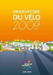 Télécharger l'Observatoire du vélo, édition 2009 - le Grand Dijon