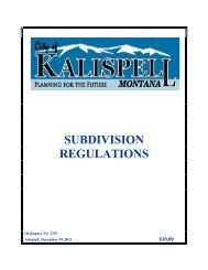 SUBDIVISION REGULATIONS - City of Kalispell