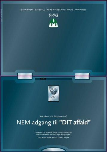 """NEM adgang til """"DIT affald"""" - Tankegang"""
