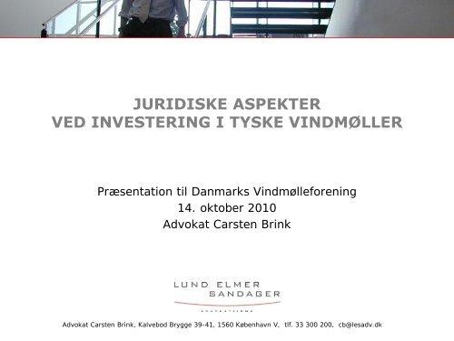 Advokat Carsten Brink - Danmarks Vindmølleforening