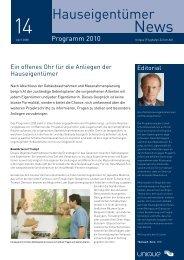 Nr. 14 Hauseigentümer-News - Programm 2010