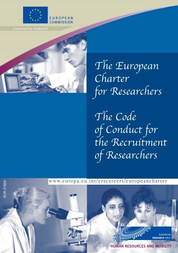 The European Charter for Researchers The Code of Conduct for the ...